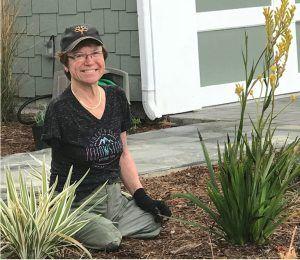 Client Linda Olson, triple-amputee