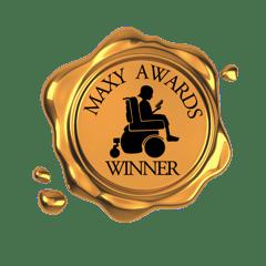 Maxy Award logo Linda K. Olson nonfiction winner 2021